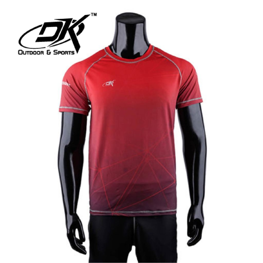 dk outdoor and sport Running Shirt Light Red