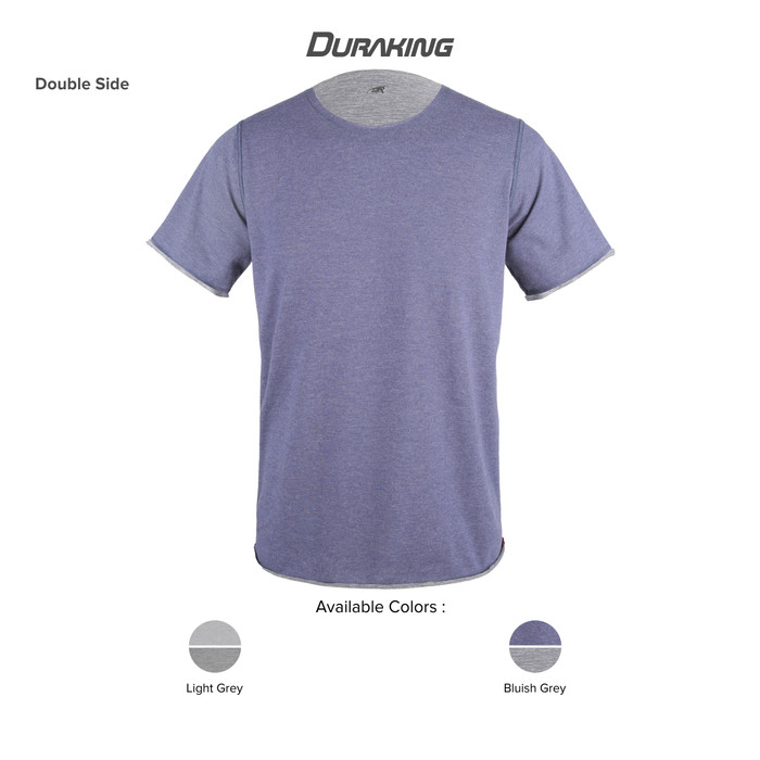 DK Daily Wear T-Shirt Double Side Bluish Grey